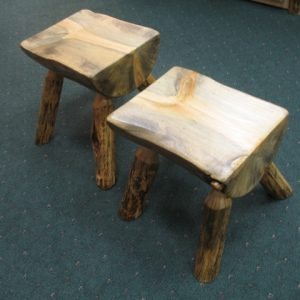 Pine 1/2 Log Stools