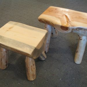 Pine and Juniper Sitting Stools
