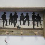 34 Cowboys on a Fence peg