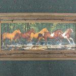 47 Horses in Creek print