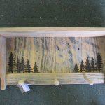 81 Woodburned Trees peg