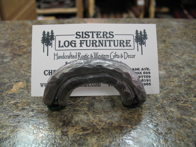 Horseshoe business card holders sisters log furniture business card holders colourmoves