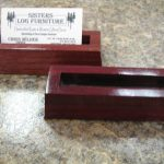 Purple Heart Business Card Holders
