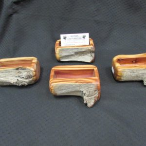 cedar post card holders
