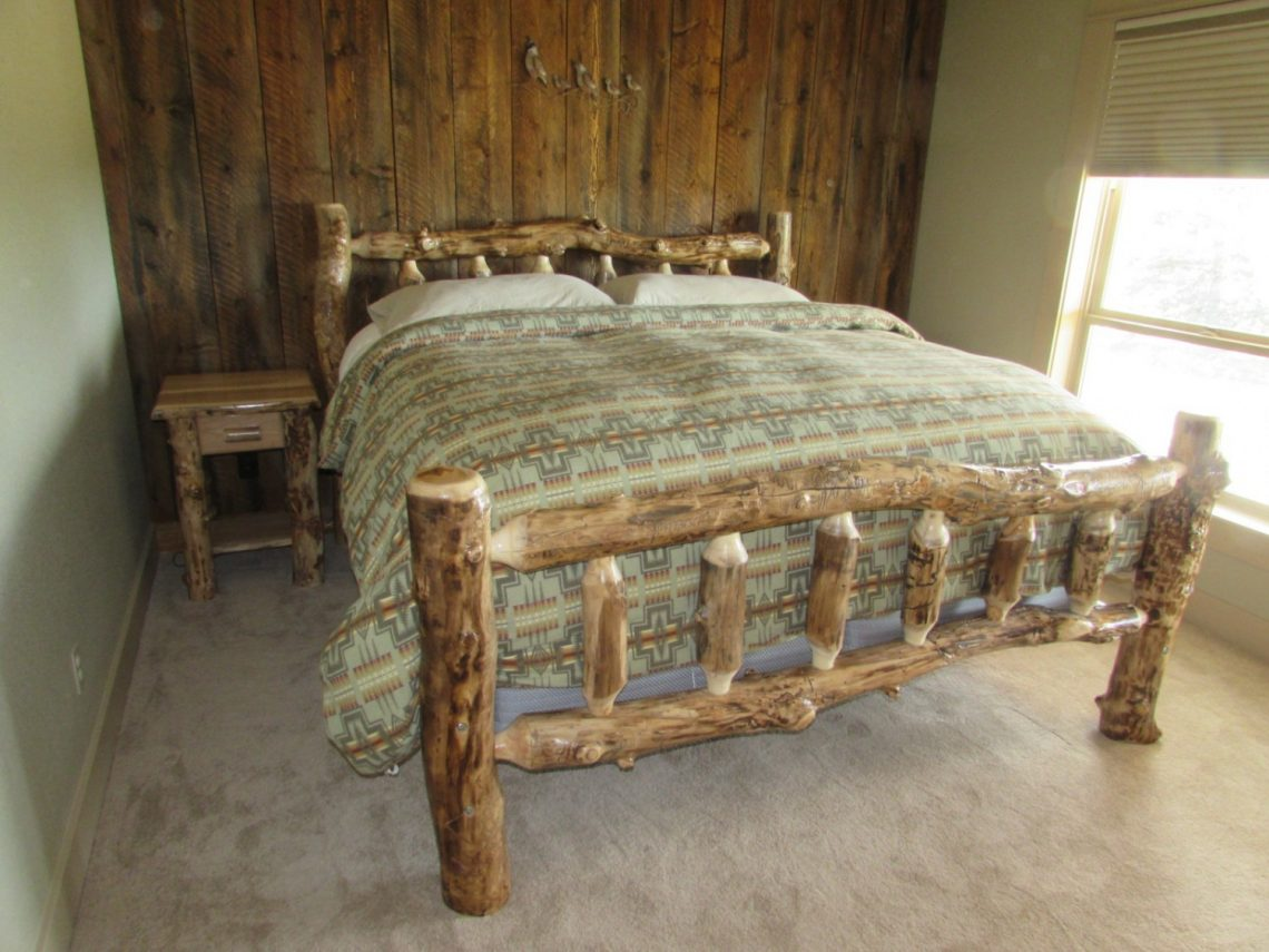 Aspen King Bed and Hickory Nightstands