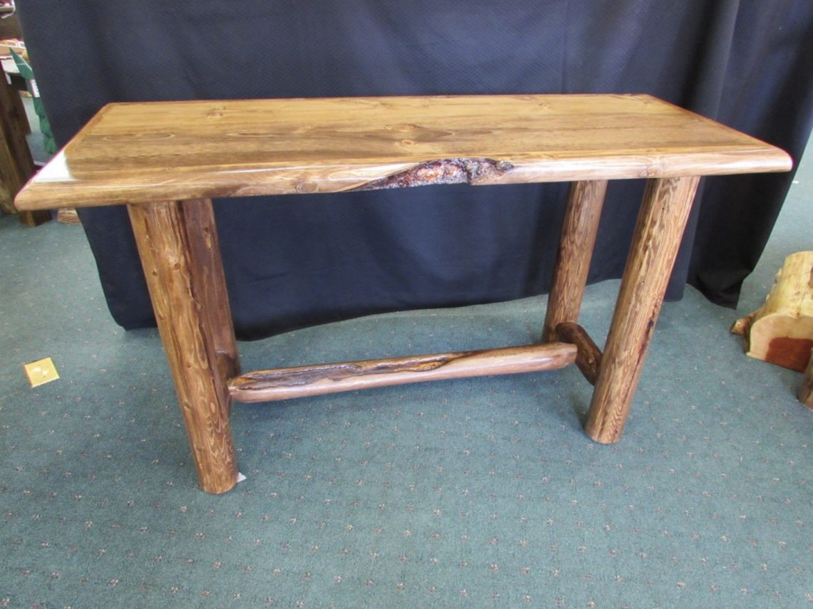 stained sofa table 1