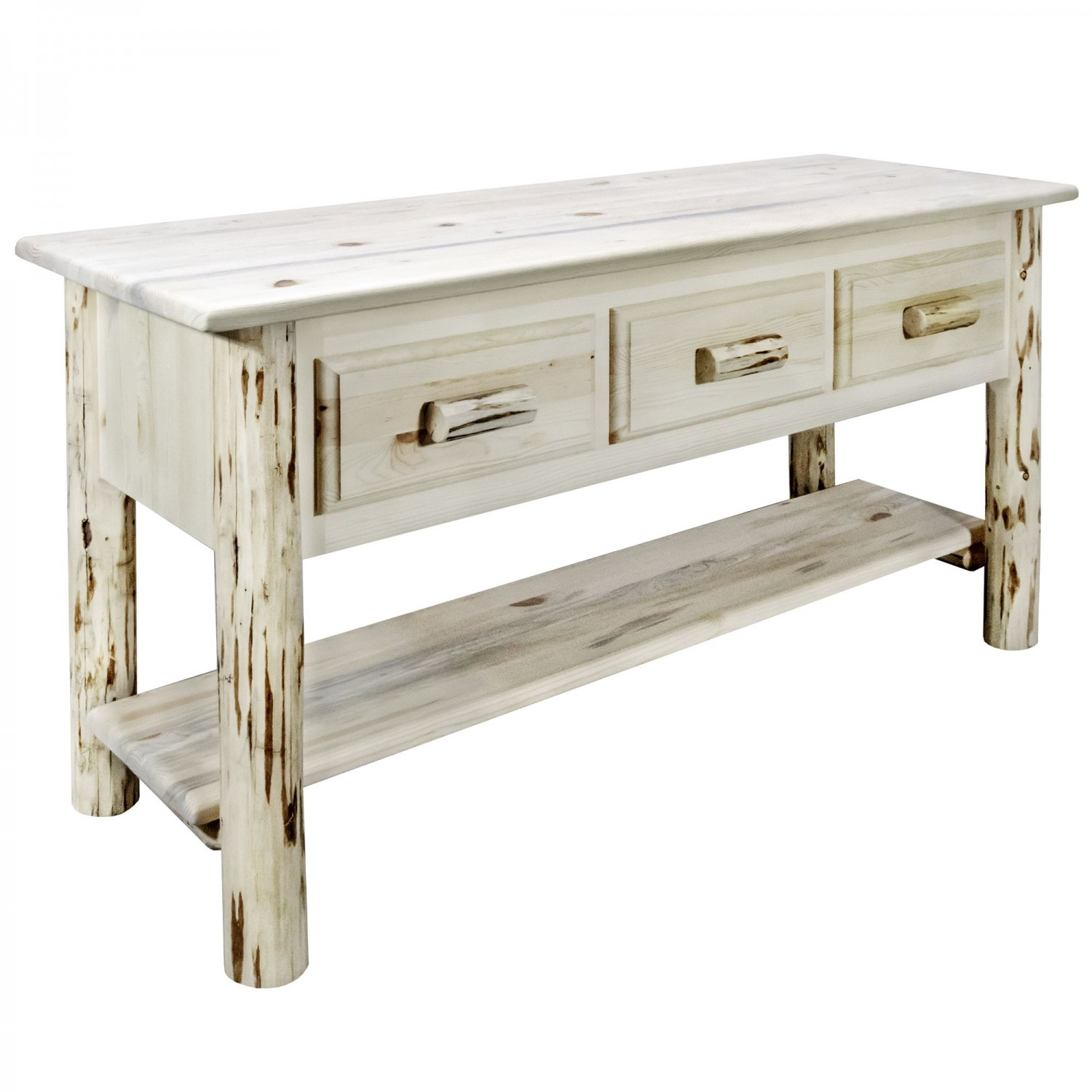 Admirable Rustic Pine Console Table W 3 Drawers Mw Interior Design Ideas Oxytryabchikinfo