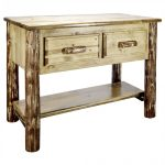 Glacier Console Table 2 Drawer