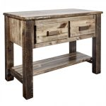 Homestead Stained Console Table 2 Drawer