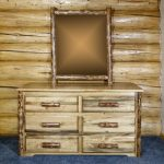 Glacier 6 Drawer Dresser w/ Log Mirror