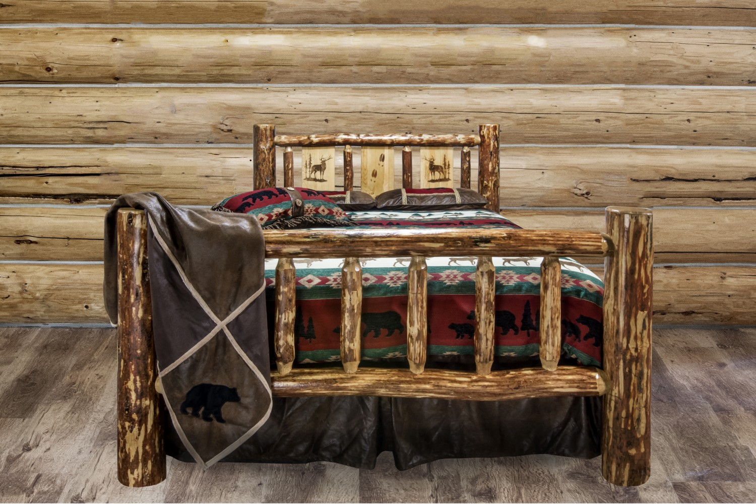 Lodgepole Pine Traditional Spindle Beds Sisters Log