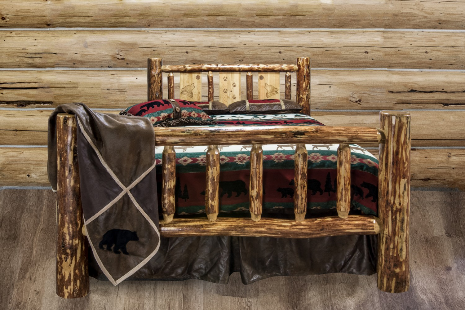 Lodgepole Pine Traditional Spindle Beds W Storage