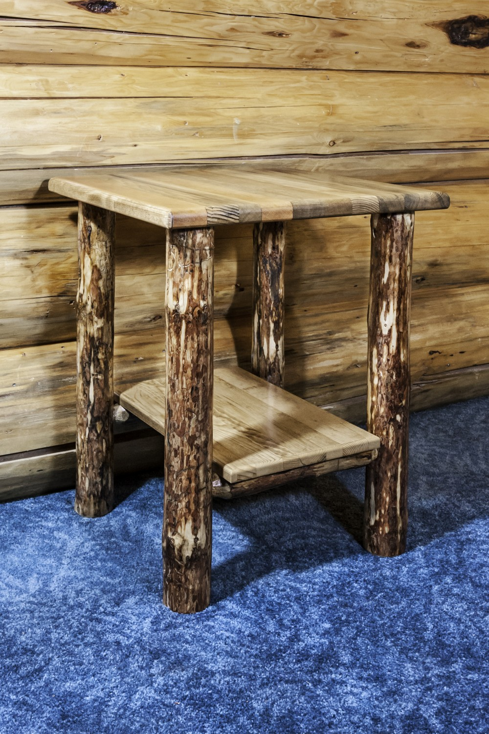 Rustic Pine W Shelf Nightstands Or End Tables Mw