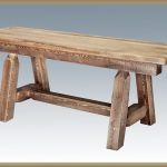 Homestead Plank Style Bench STAINED