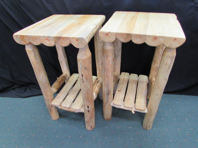 Rustic Pine Accent Tables