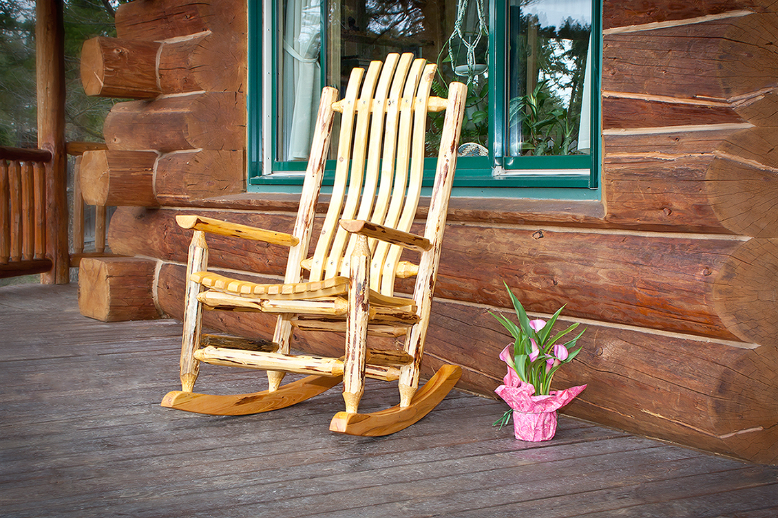 Cascade Rocking Chair (Clear Exterior Finish)