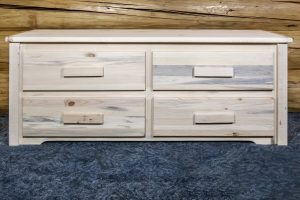 Homestead 4 Drawer Sitting Bench (Clear)