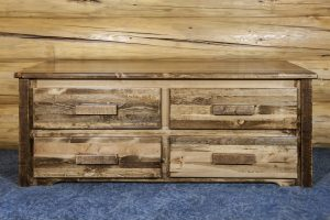 Homestead 4 Drawer Sitting Bench (Stained)