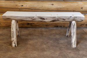Cascade Half Log Bench 4' (Clear)