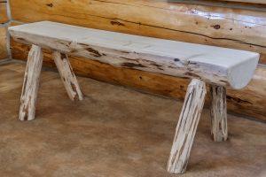Cascade Half Log Bench 6' (Clear)