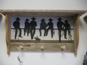 34 Cowboys on a Fence peg
