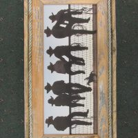 34 Cowboys on a Fence print