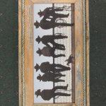 34 Cowboys on a Fence print