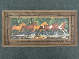 47 Horses in Creek print