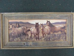 56 Horses in Sage print
