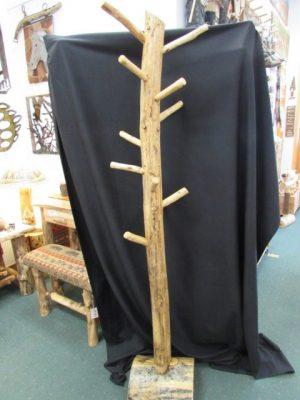 Pine coat tree