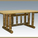 Glacier Trestle Base Dining Table