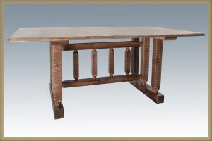 Homestead Trestle Base Dining Table (Stained)