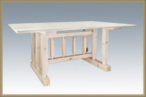 Homestead Trestle Base Dining Table (Clear)