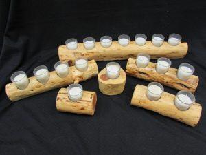 Rustic Juniper Candle Holders
