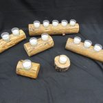 Rustic Pine Candle Holders
