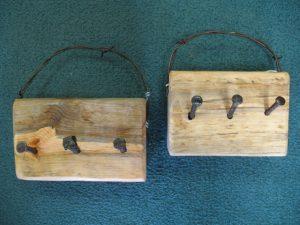 Rustic Pine Key Hooks