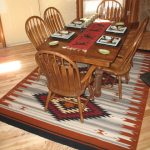 Zapotec Rug under a Dining Room Table