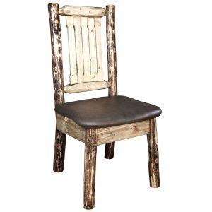 Glacier Dining Side Chair Saddle