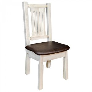 Homestead Dining Side Chair Saddle (Clear)