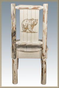Cascade Dining Side Chair w/ Bear Laser (Clear)