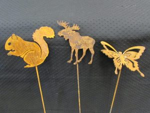 Squirrel, Moose, Butterfly