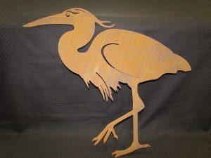 Large Heron on Stake