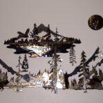 Sisters Simply & Mountain Silver Lake Scene