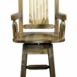Homestead Captain's Barstool w/ Swivel (Stained)