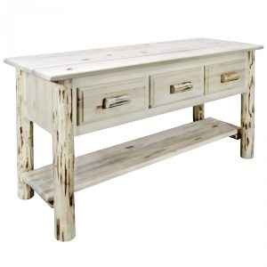 Cascade Console Table 3 Drawer (Clear)