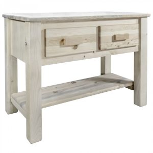 Homestead Console Table 2 Drawer (Clear)