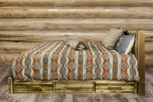 Homestead Platform Bed STAINED w Storage