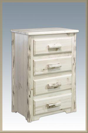 Cascade 4 Drawer Dresser (Clear)