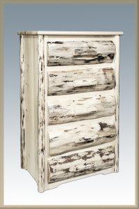 Cascade 5 Drawer Dresser w/ HALF LOG DRAWERS (Clear)
