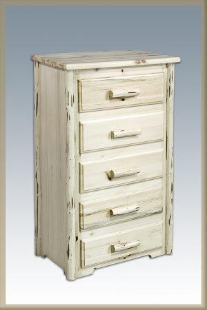 Cascade 5 Drawer Dresser (Clear)